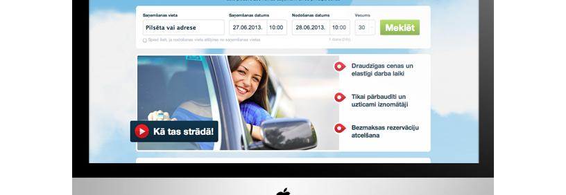 Auto nomas portāls – RentMama.com