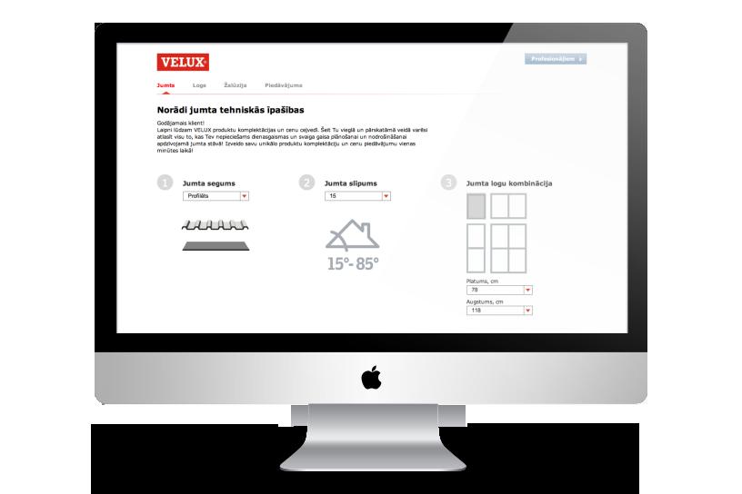 Web aplikācija – Velux kalkulators