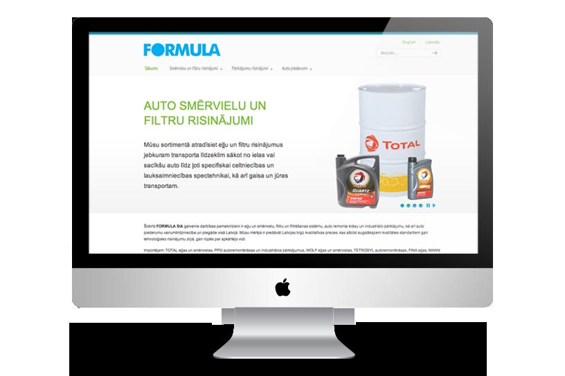Mājas lapa – Formula