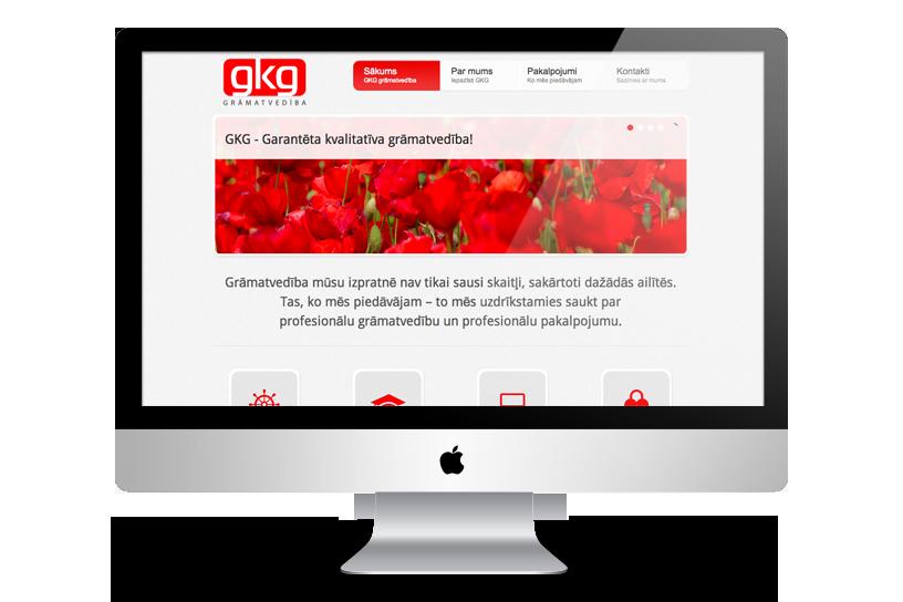 Adaptīva mājas lapa – GKG