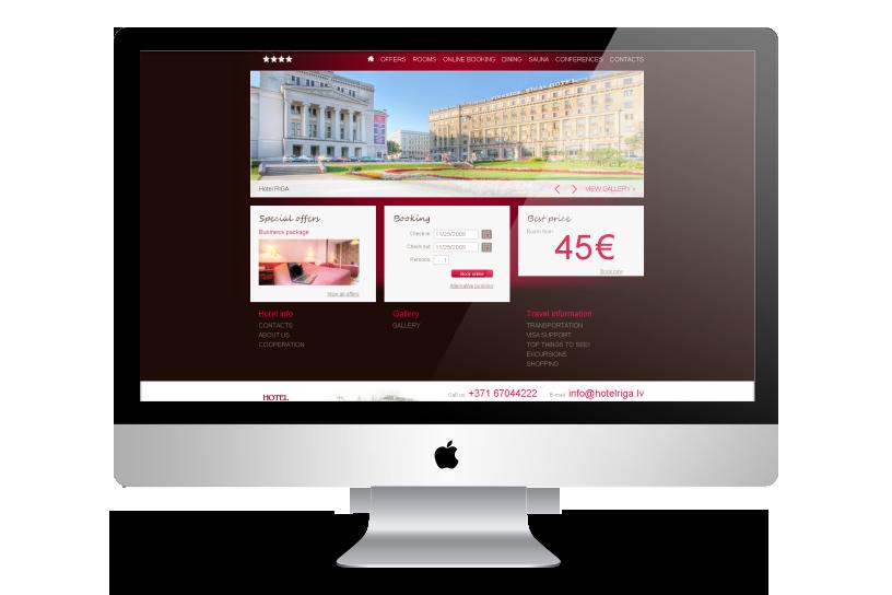 Mājas lapa – Hotel Rīga