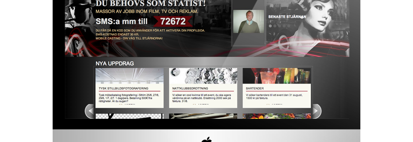 Mājas lapas dizaina izstrāde – Mobile Casting